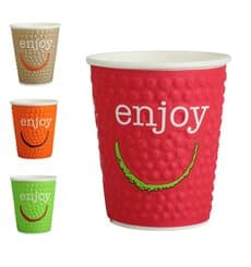 "Paper Cup ""Enjoy"" 9 Oz/270ml Ø8,0cm (30 Units)"