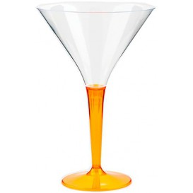 Plastic Stemmed Glass Cocktail Orange 100 ml (48 Units)