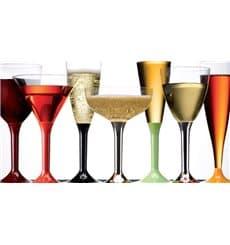 Plastic stamglas Cocktail zilver chroom 185ml 2P (200 stuks)