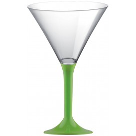 Plastic Stemmed Glass Cocktail Lime Green 185ml 2P (40 Units)