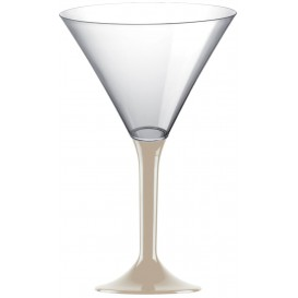 Plastic Stemmed Glass Cocktail Beige 185ml 2P (40 Units)