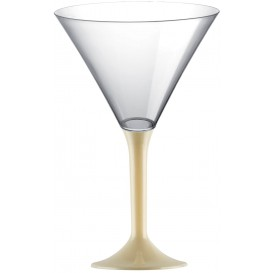 Plastic Stemmed Glass Cocktail Cream 185ml 2P (40 Units)