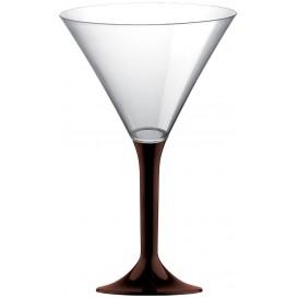 Plastic Stemmed Glass Cocktail Brown 185ml 2P (40 Units)
