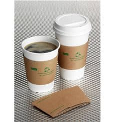 Paper Cup Sleeve Corrugated 12 / 16 Oz (100 Units)