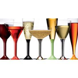 Plastic Stemmed Glass Cocktail Tiffany Pearl 185ml 2P (40 Units)