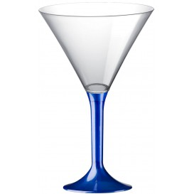 Plastic Stemmed Glass Cocktail Blue Pearl 185ml 2P (40 Units)