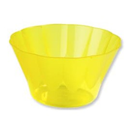 """Plastic Cup """"Royal"""" for Cocktail Yellow 500ml (25 Units)"""