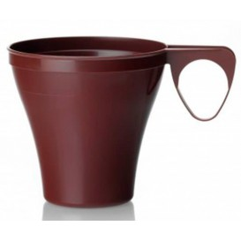 Plastic Cup Brown 80ml (1200 Units)
