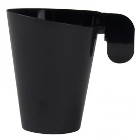 "Plastic Cup ""Design"" Black 72ml (12 Units)"