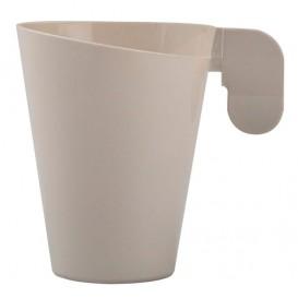 """Plastic Cup """"Design"""" Cream 155ml (12 Units)"""