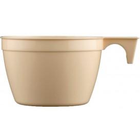 Plastic Cup Beige 190ml (25 Units)