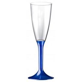 Plastic Stemmed Flute Sparkling Wine Blue Pearl 120ml 2P (200 Units)
