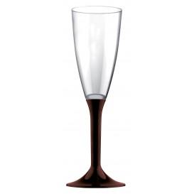 Plastic Stemmed Flute Sparkling Wine Brown 120ml 2P (40 Units)