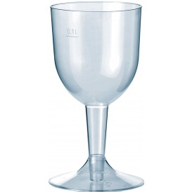Premium Plastic Glass Water or Wine Removable Stem 140ml (500 Units)