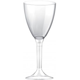 Plastic Stemmed Glass Wine Clear Removable Stem 180ml (40 Units)