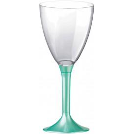 Plastic Stemmed Glass Wine Tiffany Pearl Removable Stem 180ml (40 Units)