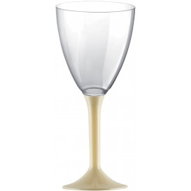 Plastic Stemmed Glass Wine Cream Removable Stem 180ml (40 Units)