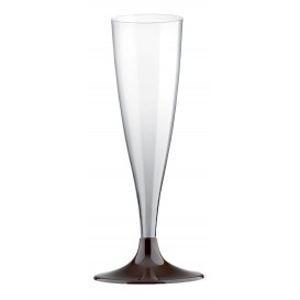 Plastic Stemmed Flute Sparkling Wine Brown 140ml 2P (400 Units)