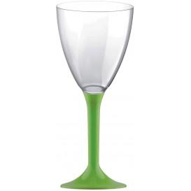 Plastic Stemmed Glass Wine Lime Green Removable Stem 180ml (200 Units)