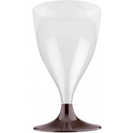 Plastic Stemmed Glass Wine Brown 200ml 2P (20 Units)