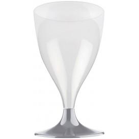Plastic Stemmed Glass Wine Grey 200ml 2P (400 Units)