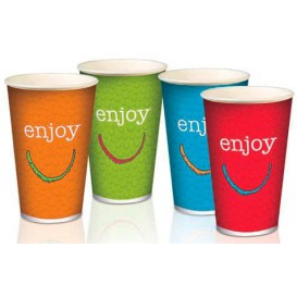 "Paper Cup ""Enjoy"" 16 Oz/500 ml Ø9,0cm (50 Units)"