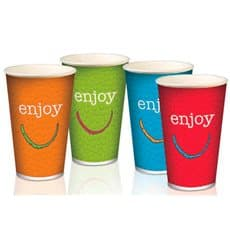 "Paper Cup ""Enjoy"" 32 Oz/1000 ml Ø11,2cm (50 Units)"