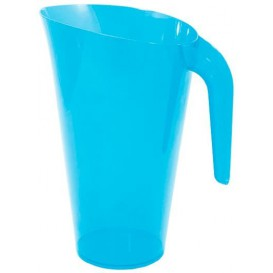 Plastic Jar PS Reusable Turquoise 1.500 ml (20 Units)
