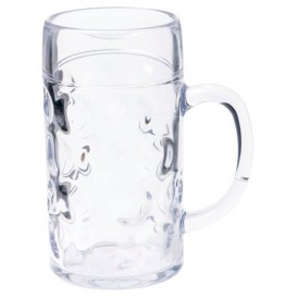 Plastic Tankard Reusable SAN Ø77mm 500ml (6 Units)