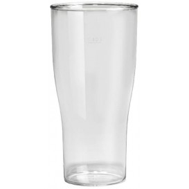 Plastic Pint Glass SAN Reusable Clear 400ml (5 Units)