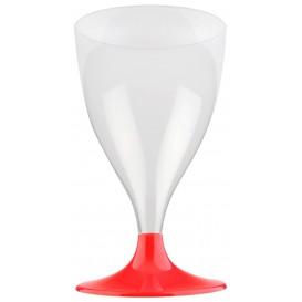 Plastic Stemmed Glass Wine Red 200ml 2P (20 Units)