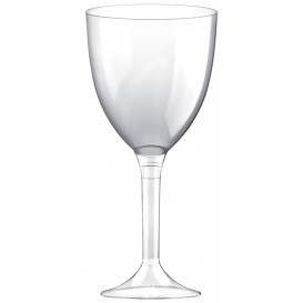Plastic Stemmed Glass Wine Clear Removable Stem 300ml (200 Units)