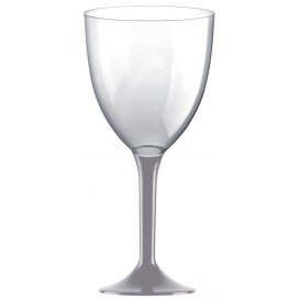 Plastic Stemmed Glass Wine Grey Removable Stem 300ml (40 Units)