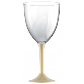 Plastic Stemmed Glass Wine Cream Removable Stem 300ml (40 Units)