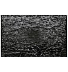 Plastic Tasting Platter Synthetic Slate PS 22x14cm (10 Units)