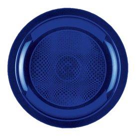 Plato de Plastico Llano Azul Ø185mm (300 Uds)