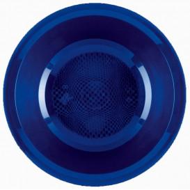 "Plastic Plate Deep Blue ""Round"" PP Ø19,5 cm (50 Units)"