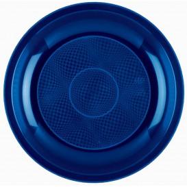 "Plastic Plate Flat Blue ""Round"" PP Ø22 cm (600 Units)"