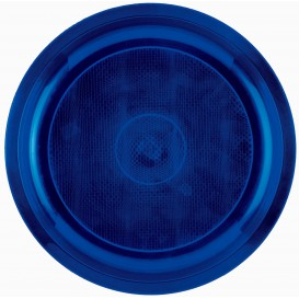 "Plastic Plate Blue ""Round"" PP Ø29 cm (25 Units)"