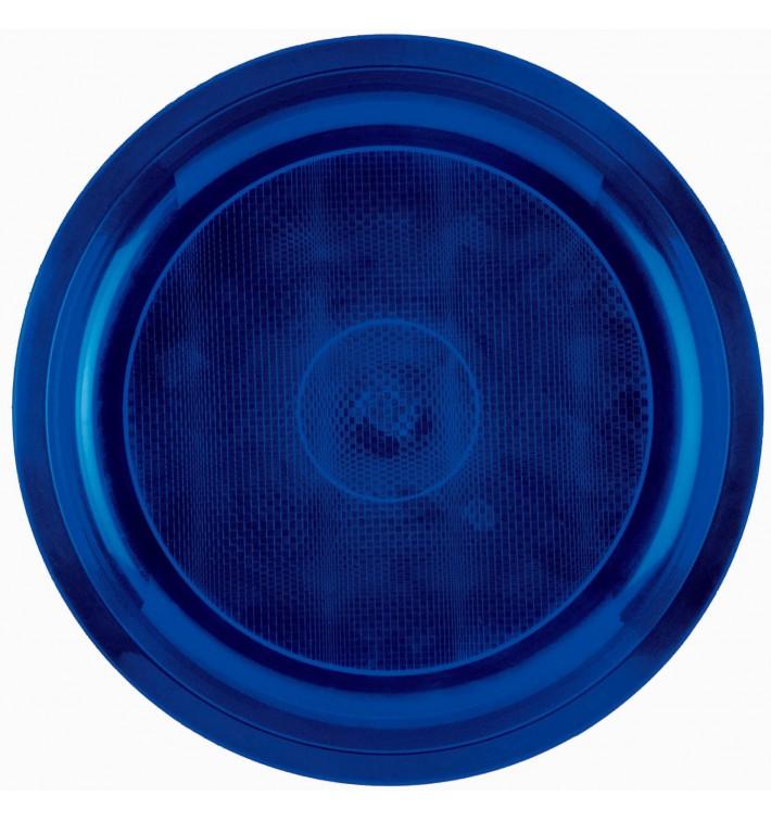 "Plastic Plate Blue ""Round"" PP Ø29 cm (300 Units)"