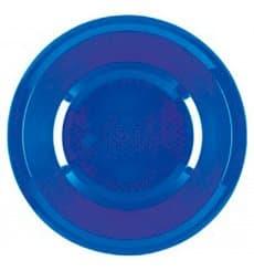 "Plastic Plate Deep Mediterranean Blue ""Round"" PP Ø19,5 cm (50 Units)"