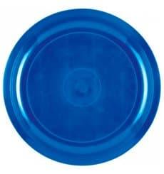 "Plastic Plate Mediterranean Blue ""Round"" PP Ø29 cm (25 Units)"