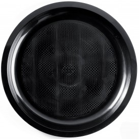 "Plastic Plate Black ""Round"" PP Ø29 cm (25 Units)"