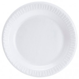 """Foam Plate """"Concorde"""" White 15 cm (125 Units)"""