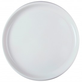 "Plastic Plate for Pizza White ""Round"" PP Ø35 cm (12 Units)"