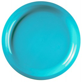 Plastic Plate Turquoise Round shape PP Ø29 cm (25 Units)