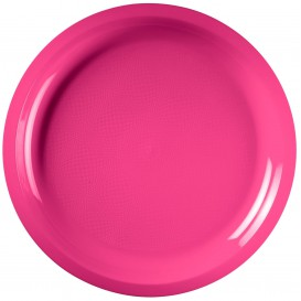 "Plastic Plate Fuchsia ""Round"" PP Ø29 cm (25 Units)"
