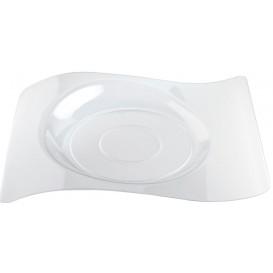 "Plastic Plate ""Forma"" Clear 28x23 cm (12 Units)"