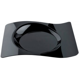 "Plastic Plate ""Forma"" Black 28x23 cm (180 Units)"