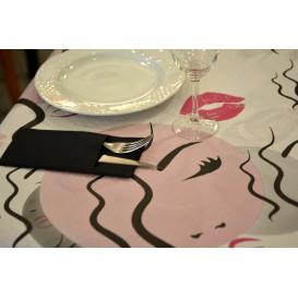 """Pre-Cut Paper Tablecloth """"Kiss"""" 37g 1x1m (400 Units)"""